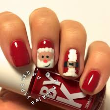 santa claus nail art polishpedia nail art nail guide father