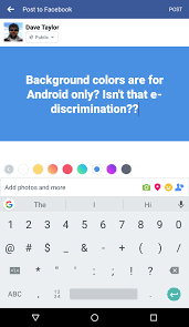 android color how can my updates a color background ask dave