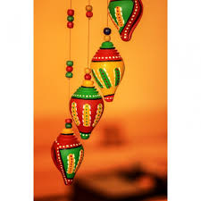 buy unravel india terracotta shankh wind chime online in india
