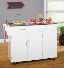 wayfair kitchen island barrel studio garrettsville kitchen island with stainless