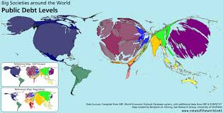 Map Of The World Countries by 54 Trillion Debt Views Of The World