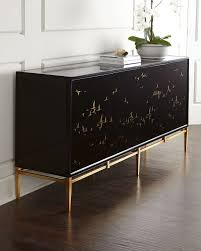 black console table with storage marla noir console wood composite acacia wood and black glass