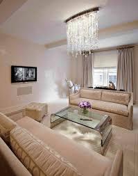living room lighting ideas with crystal flush mount lighting