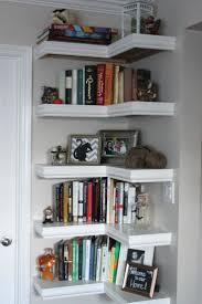pottery barn kids corner bookcase love the idea of using unused corners to install diy shelves