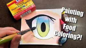 can you paint with food coloring knoel u0027s nook youtube