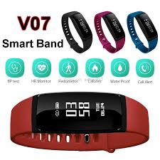 bracelet heart rate monitor images Blood pressure smartband v07 smart band bracelet heart rate jpg