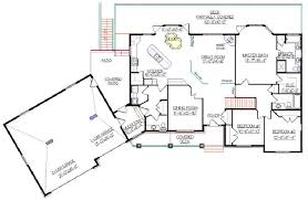Bungalow Plans With Basement by Skillful Ideas Mountain House Plans With Angled Garage 9 Walkout