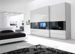 Clear Mirrored Wardrobe 2 Door Modular Kids Wardrobes 2 Doors With Mirror For Small Bedroom