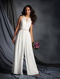 wedding dress jumpsuit alfred angelo 2516 chiffon jumpsuit wedding dress sale