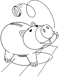piggy bank coloring pages kids u2013 barriee