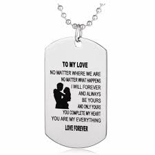 Husband Wife Love Jewelry Military Chains Air Force Pendant Dog Tags