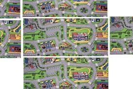 Kids Race Track Rug by Car City Carpet Nostalgia