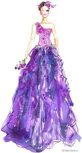 drawn fashion purple pencil and in color drawn fashion purple