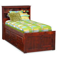 bookcase bed full under bookshelf headboard roundhill furniture