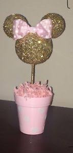 minnie mouse center pieces minnie mouse centerpiece pink and gold ebay