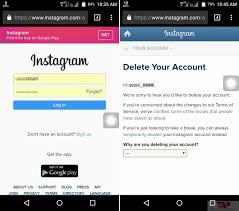 how to delete instagram account from phone