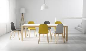 chaise design scandinave tapiss礬e ergonomique en tissu