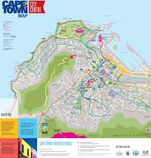 Cable Car Map Cape Town City Center Map