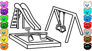 playground equipment coloring pages contegri com
