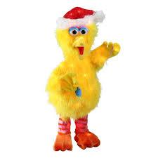 18 u201d pre lit sesame street big bird santa hat 3d christmas