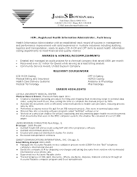 cover letter medical records resume sample electronic medical