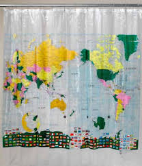 World Curtains World Map Shower Curtain Amac Gifts And Home Accessories