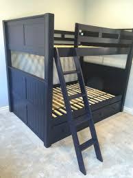 Foster Wood Convertible Queen Over Queen Bunk Bed In Orange County - Navy bunk beds