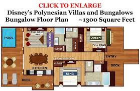 disney vacation club floor plans photo tour of a bungalow at disney s polynesian village resort