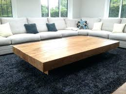 Big Ottoman Cushioned Coffee Table Capsuling Me