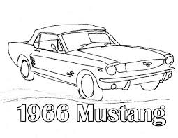 1966 mustang classic cars coloring pages 1966 mustang classic