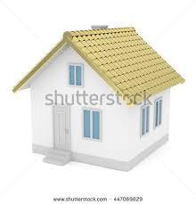 white simple house golden roof on stock illustration 465337616