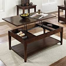 rectangle lift top coffee table steve silver crestline rectangle distressed walnut wood lift top