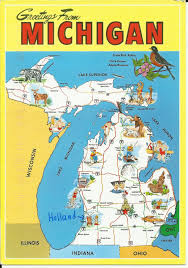 Map Of Bay City Michigan by Scrapping Cavewoman A Postcard A Day Monday 9 Nov 2015 Michigan