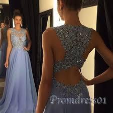 a line lavender high neck lace long prom dress prom dresses