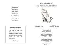 funeral program template affordablecarecat