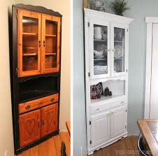 corner kitchen hutch furniture the craft patch corner hutch furniture makeover