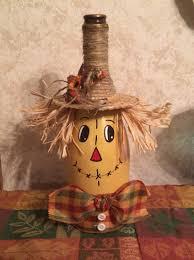 Wine Bottle Halloween Crafts by Scarecrow Wine Bottle Kimmie U0027s Kreative Jaz Halloween