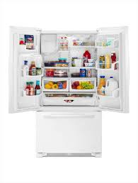 Refrigerator With French Doors And Bottom Freezer - amana 24 7 cu ft french door refrigerator in white afi2539erw
