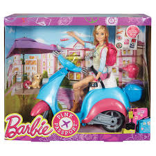 barbie cars with back seats barbie pink passport barbie doll and scooter toys r us australia