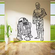 compare prices on wall stencils stickers online shopping buy low star wars r2d2 and c3po droids duo movie vinyl wall art sticker decal children room door