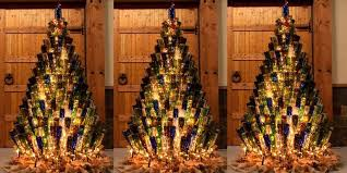 the brown christmas tree wine bottle christmas trees how to decorate your tree with wine