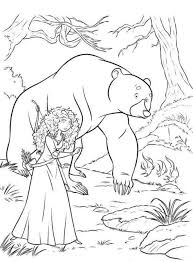 merida brave coloring cartoon brave coloring pages bear and