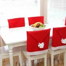 diy home christmas decorations santa hat chair covers christmas diy decor christmas