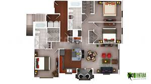 house plan with furniture 3d