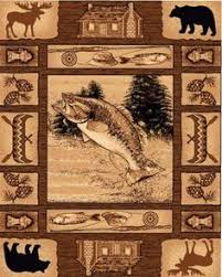 Lodge Style Area Rugs 4 X 6 Country Theme Lodge Area Rug Southwestern Duck Deer Fish