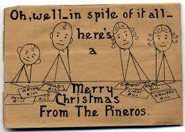 brown christmas cards a cheerful depression era greeting national museum of