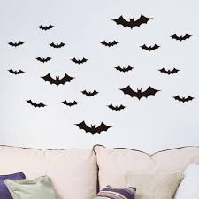 online get cheap vinyl wall decals aliexpress com alibaba group order 10 pieces black bat wall sticker kids room bedroom home decoration 3d vinyl wall decal poster mural