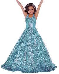 amazon com lisa golds sequins pageant dress long flower