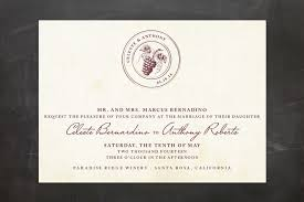 vineyard wedding invitations 8 breathtaking vineyard wedding invitations wedding guide