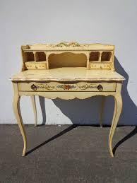 Shabby Chic Writing Desk by French Provincial Secretary Queen Anne Writing Desk Regency Metal